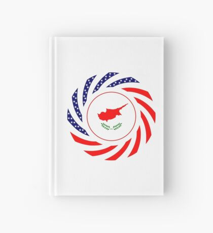 Cypriot American Multinational Patriot Flag Series Hardcover Journal