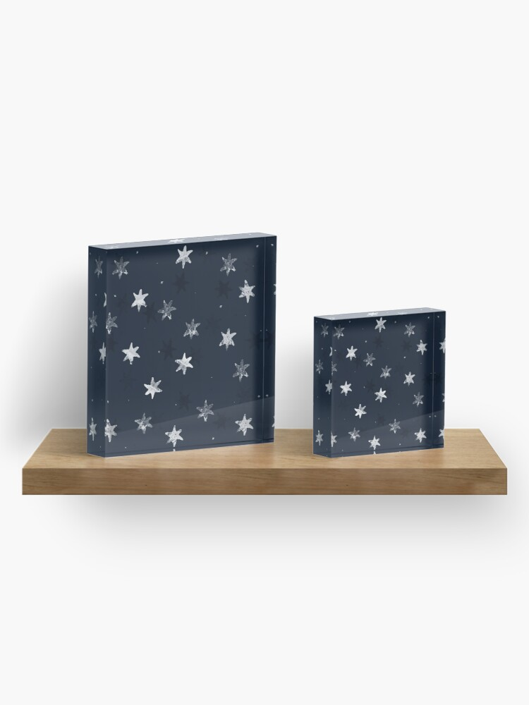 Alternate view of Stamped Star Acrylic Block