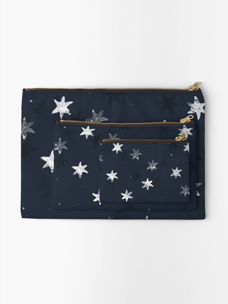 Alternate view of Stamped Star Zipper Pouch
