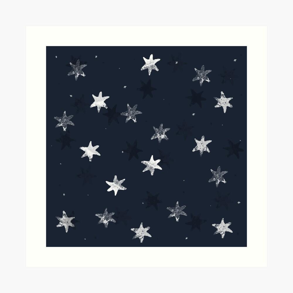 Stamped Star Art Print