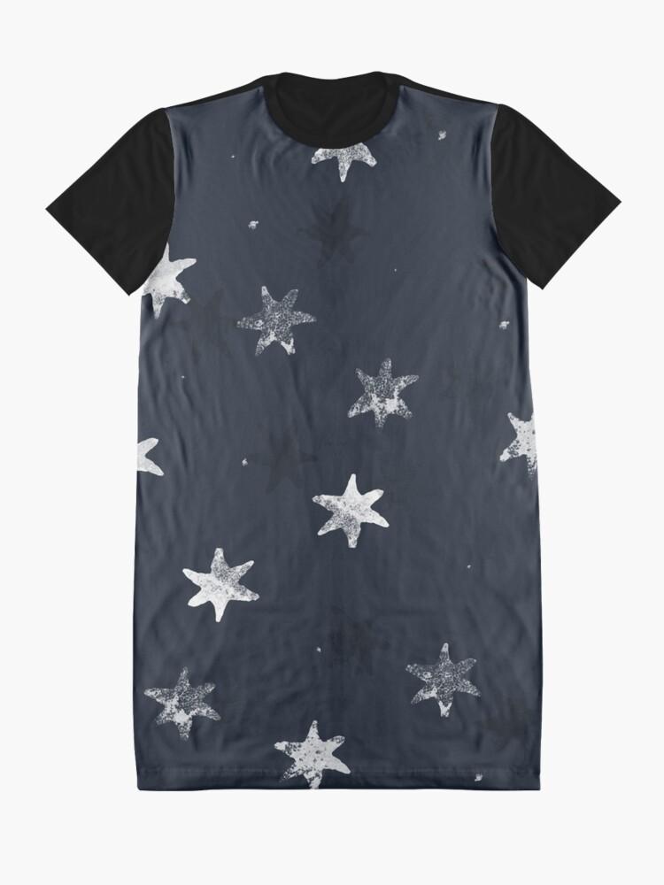 Alternative Ansicht von Gestempelter Stern T-Shirt Kleid