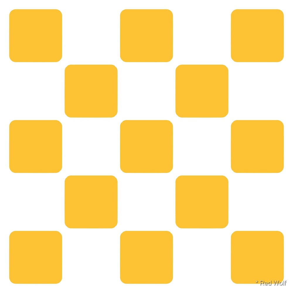 Geometric Pattern: Rounded Weave: White/Yellow by * Red Wolf