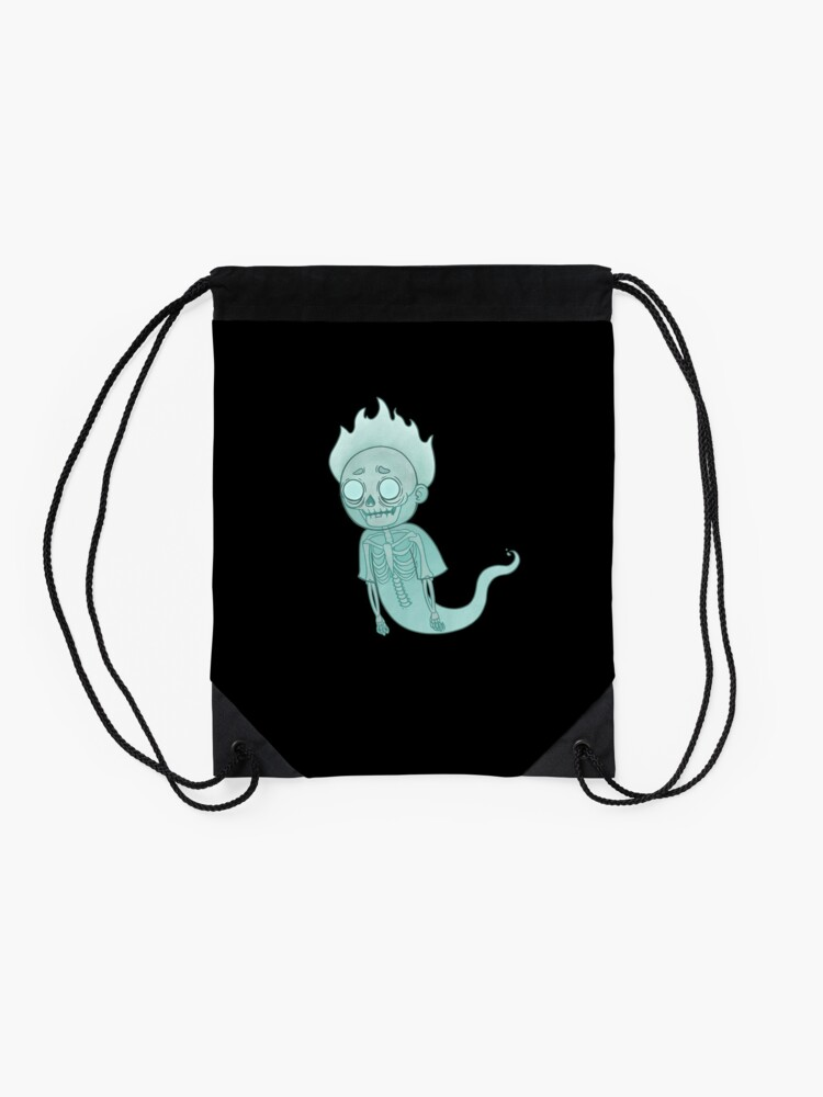 Alternate view of Ghost Morty Drawstring Bag