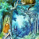«Alicia y el gato de Cheshire - Alicia en el país de las maravillas» de maryedenoa