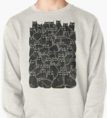 Verdächtige Katzen Sweatshirt