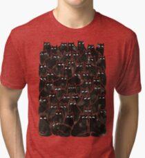 Verdächtige Katzen Vintage T-Shirt