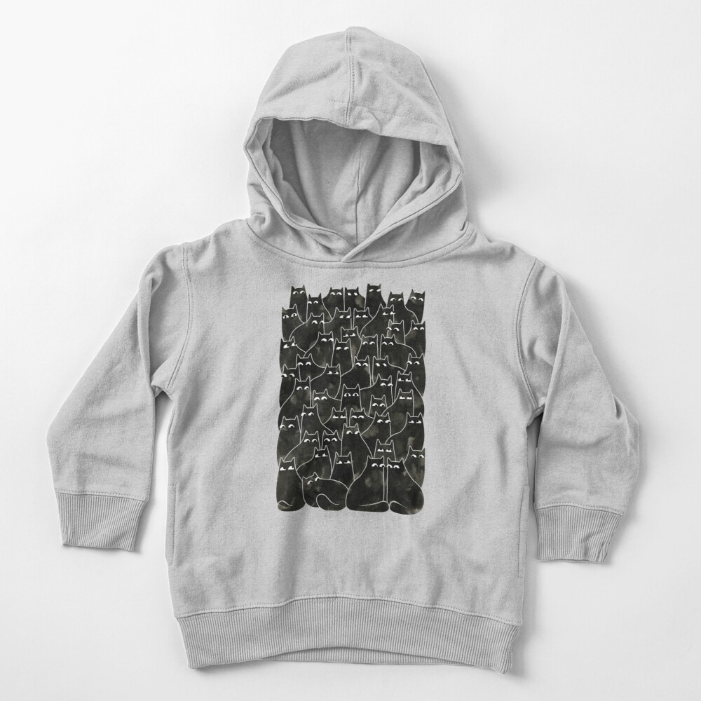 Suspicious Cats Toddler Pullover Hoodie