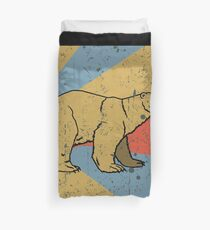 Bear Polar Bear Retro Vintage Bettbezug