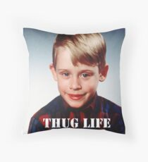 Macaulay Culkin - Thug Life Throw Pillow