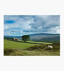 Clouds breaking over Grassington Photographic Print