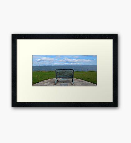 Skerries Bench Framed Print