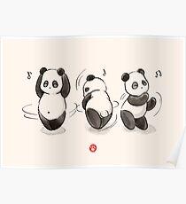 Panda Essen Tanz Poster