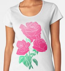 Blumen - rosa Rose Premium Rundhals-Shirt