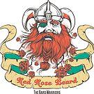 Red Rose Beard Viking Pirate by anabellstar