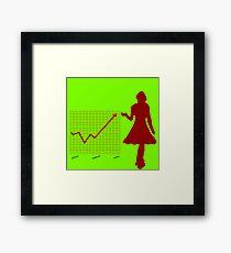 Business chart and women Framed Print