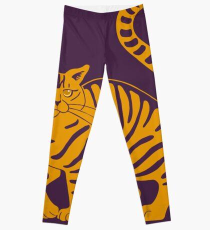 Orange Tabby Cat - tiger stripe Leggings