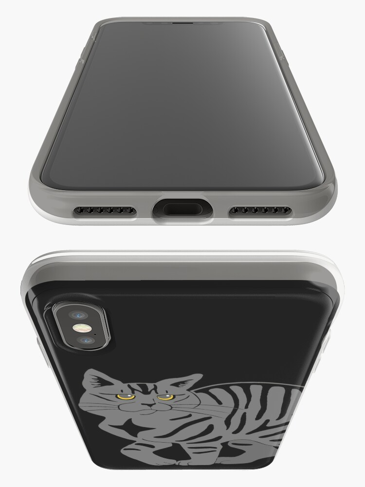 Alternate view of Gray Tabby Cat - tiger stripe iPhone Case & Cover