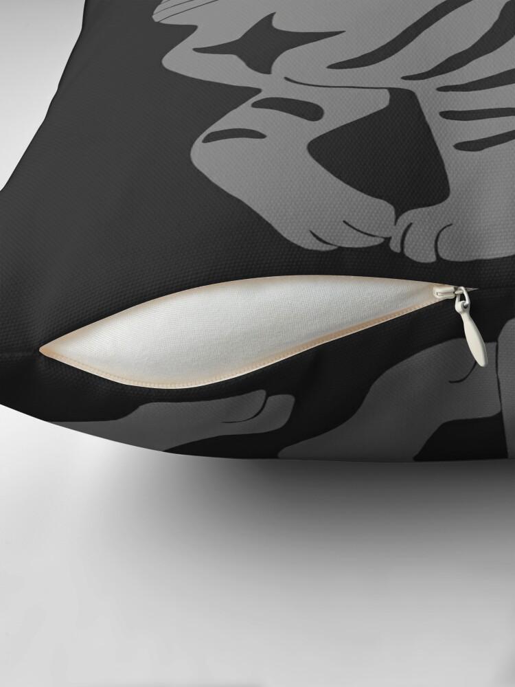 Alternate view of Gray Tabby Cat - tiger stripe Throw Pillow