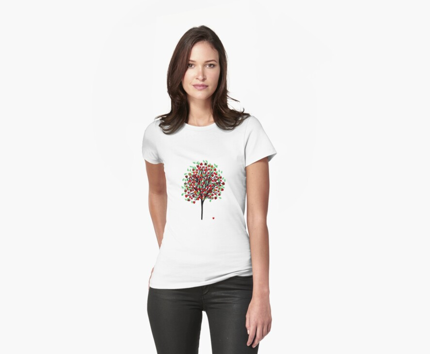 Apple Tree T Shirt by simpsonvisuals
