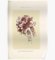Floral Designs Series I a hand book for cut flower workers and florists John Horace McFarland 1888 0091 Bride's Hand Boquet Poster