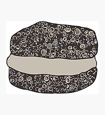 Grayscale Macaroon Doodle Photographic Print