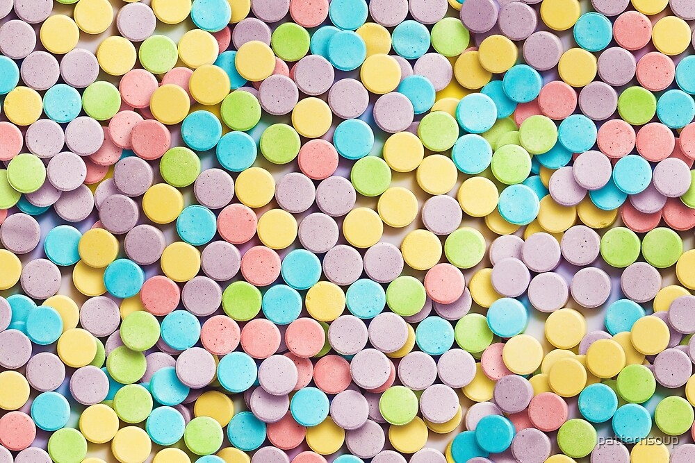 Sweet and Sour Candy Pattern  by patternsoup