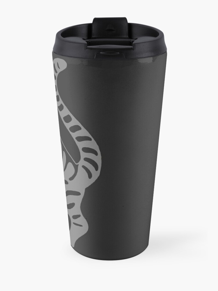 Alternate view of Gray Tabby Cat - tiger stripe Travel Mug