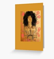 Afro Woman Greeting Card