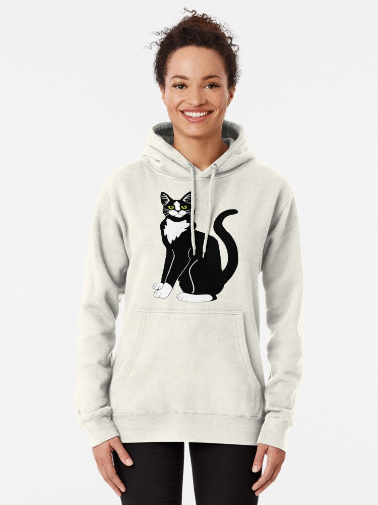 Alternate view of Tuxedo Cat Pullover Hoodie