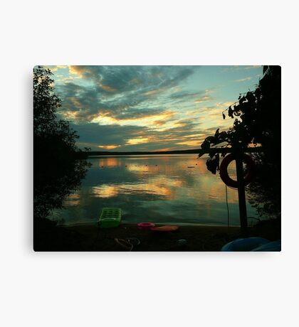 OPALESCENT COLORS ON THE LAKE Canvas Print