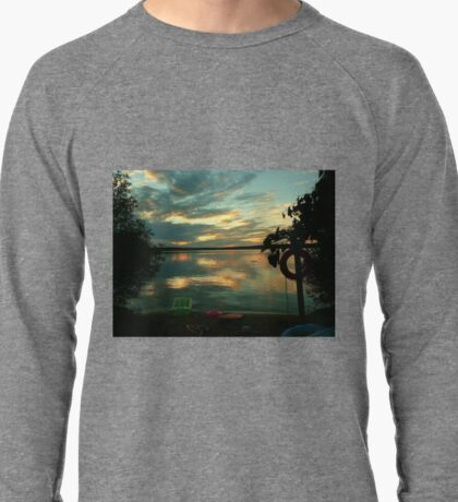 OPALESCENT COLORS ON THE LAKE Lightweight Sweatshirt