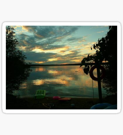 OPALESCENT COLORS ON THE LAKE Sticker