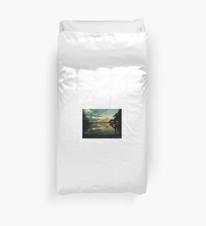OPALESCENT COLORS ON THE LAKE Duvet Cover
