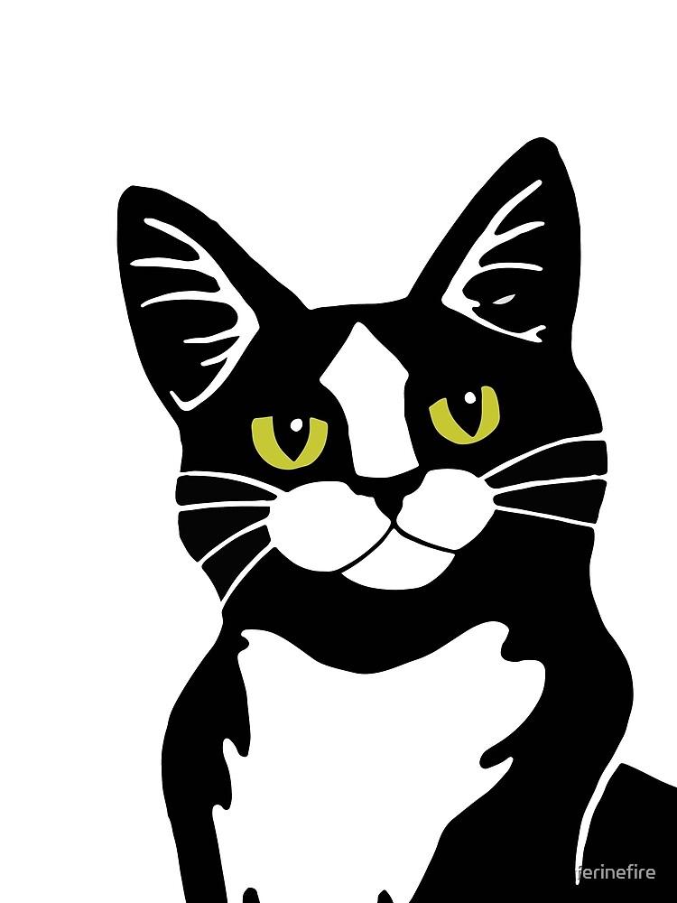 Tuxedo Cat by ferinefire