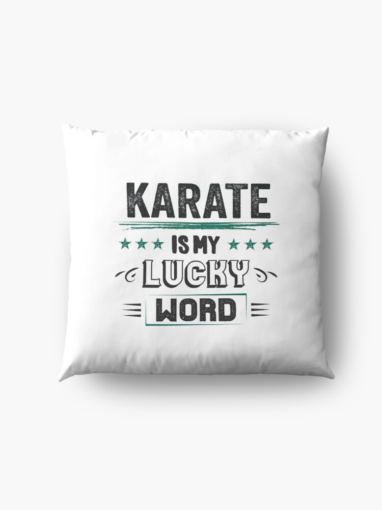 Alternative Ansicht von Karate Lucky Word- Cooles Witziges Lustiges Comic Graphic Karatekämpfer Karateschule Trainer Team Humor Spruch Sprüche Geschenke Bodenkissen