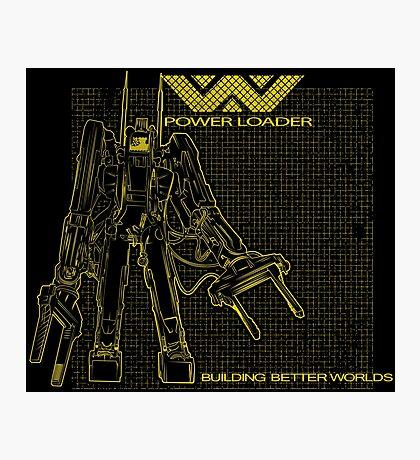 Powerloader Blueprint (yellow) Photographic Print