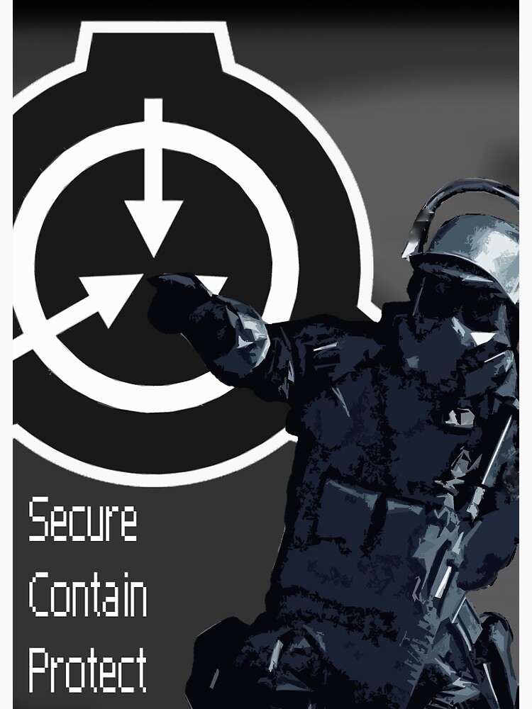 SCP MTF Soldier   Poster