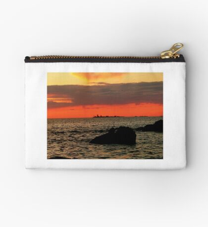 OMINOUS CLOUDS ON LAKE WINNIPEG Studio Pouch