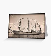 ARC Gloria (Columbian Tall Ship) Greeting Card