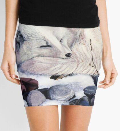 Creature Comforts - arctic fox Mini Skirt