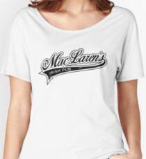 MacLaren's Pub_Black Women's Relaxed Fit T-Shirt