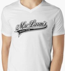 MacLaren's Pub_Black Men's V-Neck T-Shirt