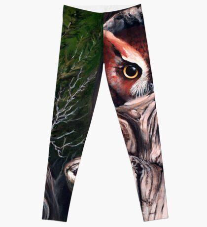 Sentinels -  Eastern screech owls Leggings