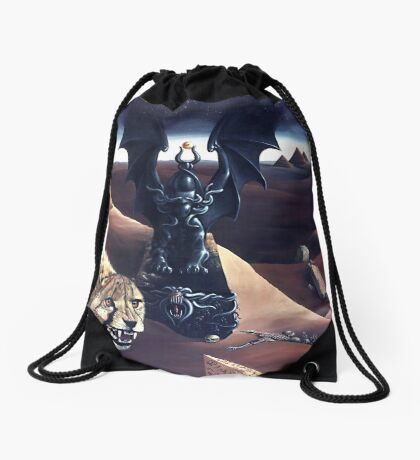 A Faceless God Drawstring Bag