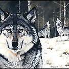 Three for the Wild - gray wolves by ferinefire