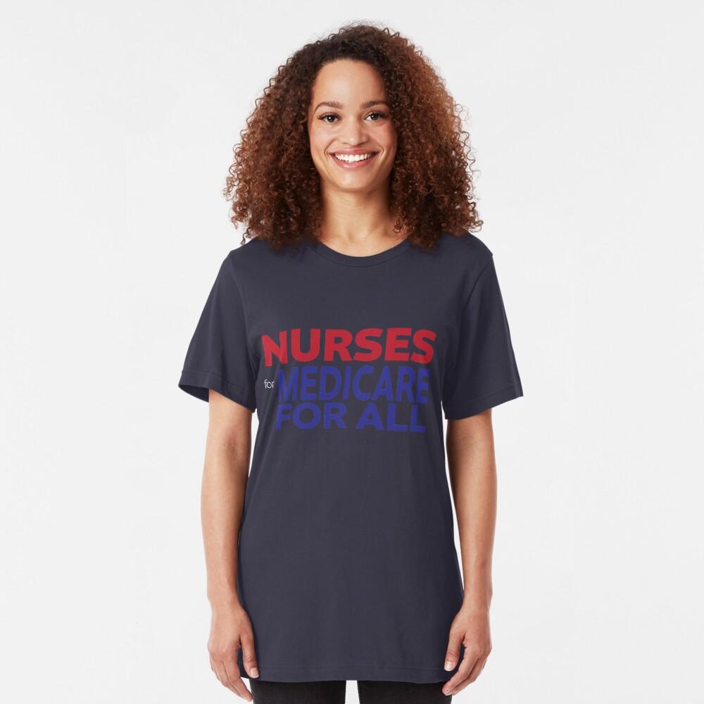 Nurses for Medicare for All Slim Fit T-Shirt