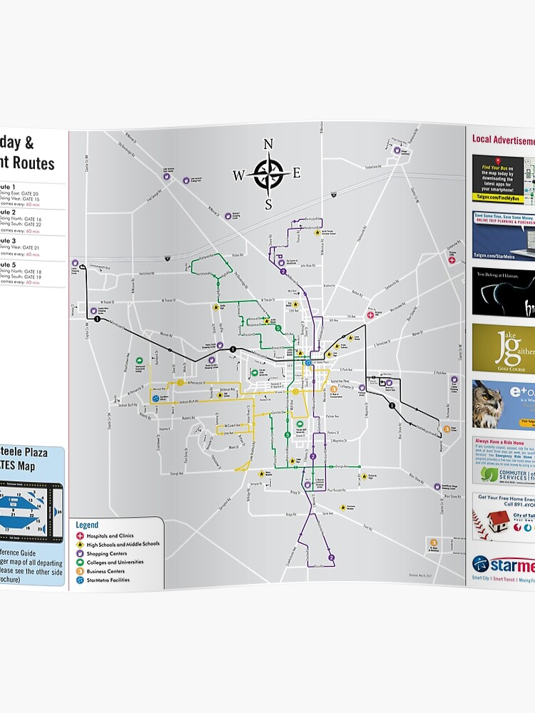 United States of America - Tallahassee - Sunday and Night Road Map System -  HD | Poster