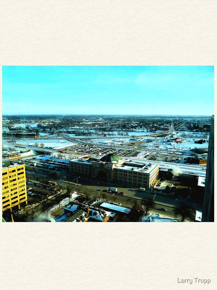 Winnipeg from Above in the Winter by umpa1