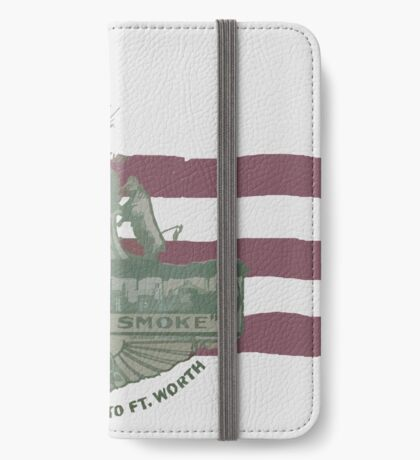1912 Fort Worth Flag - We're For Smoke - All Roads Lead to Ft. Worth (Recolored) iPhone Wallet