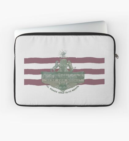 1912 Fort Worth Flag - We're For Smoke - All Roads Lead to Ft. Worth (Recolored) Laptop Sleeve